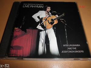PAUL-SIMON-cd-LIVE-RHYMIN-in-concert-URUBAMBA-and-JESSY-DIXON-SINGERS-hits