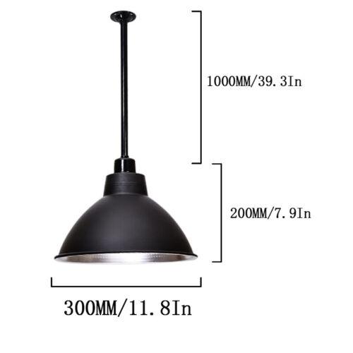 Industrial Pendant Ceiling Light Loft Bar Fixture Stainless Steel Vintage Lamp