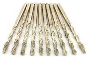 """DHD1810 1//8/"""" Diamond Coated 10 Piece Drill Set"""