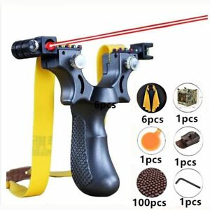 New-Hunting-Slingshot-Resin-Catapult-Laser-Aiming-Outdoor-Shot-with-Rubber-Band