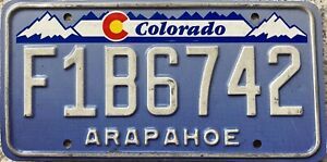Colorado Denim Arapahoe County American License Licence Number Plate Tag F1B6742