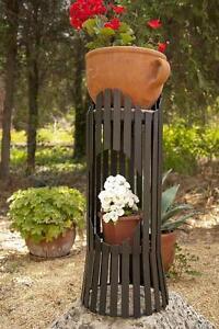 COLONNE-DE-FLEURS-ALBERO-60-cm-Tabouret-a-metal-blum-cote-jardinieres