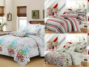 LUXURY-PRINT-COLLECTION-DUVET-COVER-SET-WITH-PILLOW-CASE-QUILT-SETS-BEDDING