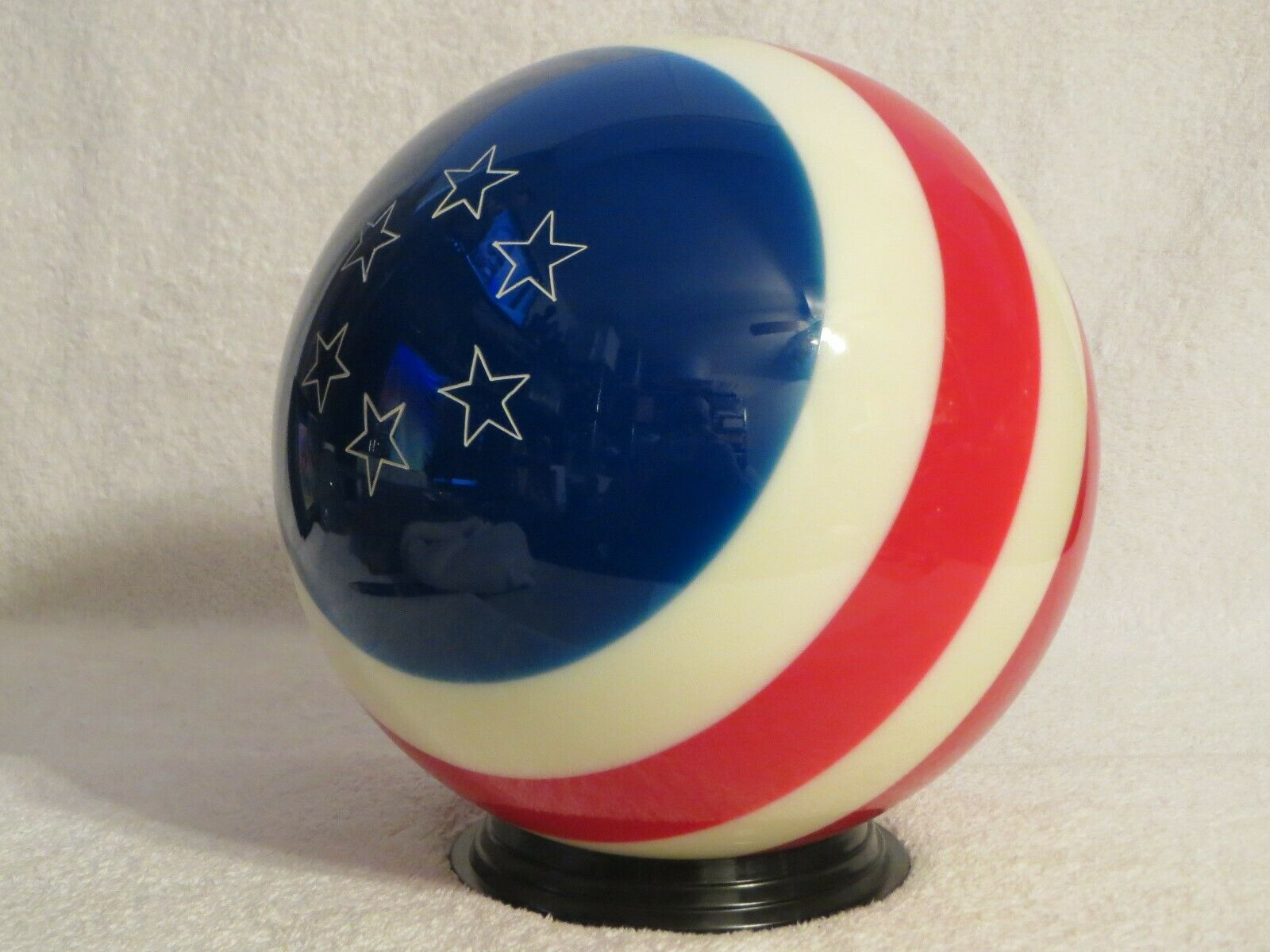 Undrilled Ebonite Patriotic Yankee Doodle Red White bluee Bowling Ball 11.5 lbs