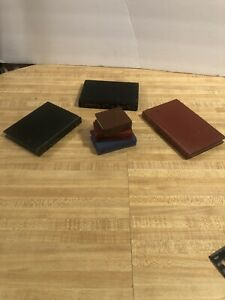 Hand-Made-Wooden-Books-Art-Deco-Lot-Of-4