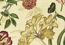 7.50 Yards Waverly Fabric Sommerset Botanical  Cotton Drapery Upholstery