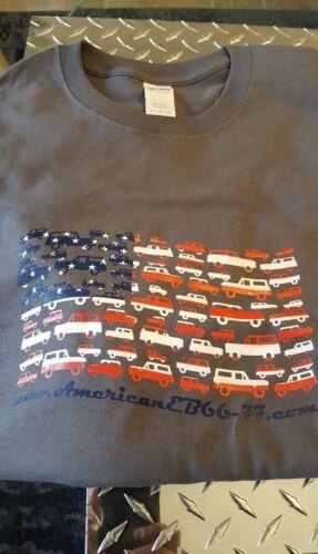 Early Bronco 66-77 American Flag Bronco T shirt  Medium Grey L