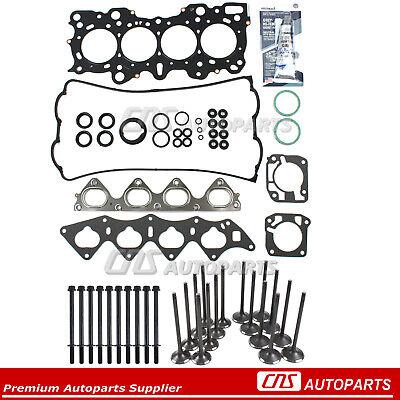 Intake Exhaust Valves w// Seals Fit 94-01 Acura Integra GS-R Type-R B18C1 B18C5