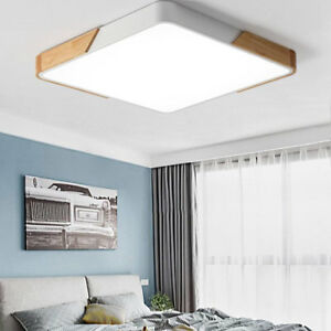Image Is Loading Ultra Thin Wood Led Ceiling Lights Bedroom