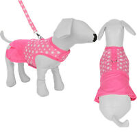 Pink Star Pet Apparel Clothes Dog Harness Dress With D Ring Leash Size S M L