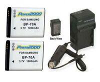 2 Batteries + Charger For Samsung Aq100 Es65 Es67 Es70 Es71 Sl630 St60 St61 St70