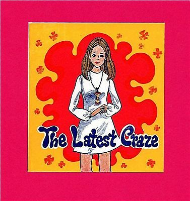 Old The Latest Craze Girl Necklace Vending Machine Sign