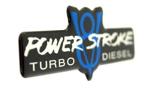 POWERSTROKE V8 TD EMBLEM BLUE//BLACK SUPER SIZED SATIN