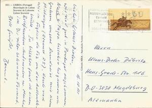 Angemessen Portugal 1990 Atm Nr 2.1 Postreiter Auf Ans.karte Diverse Philatelie Echt Gelaufen