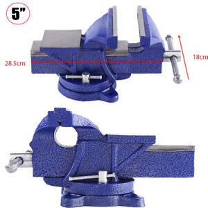 HEAVY-DUTY-WORK-BENCH-VICE-VISE-WORKSHOP-CLAMP-ENGINEER-JAW-SWIVEL-BASE-5-034-125MM