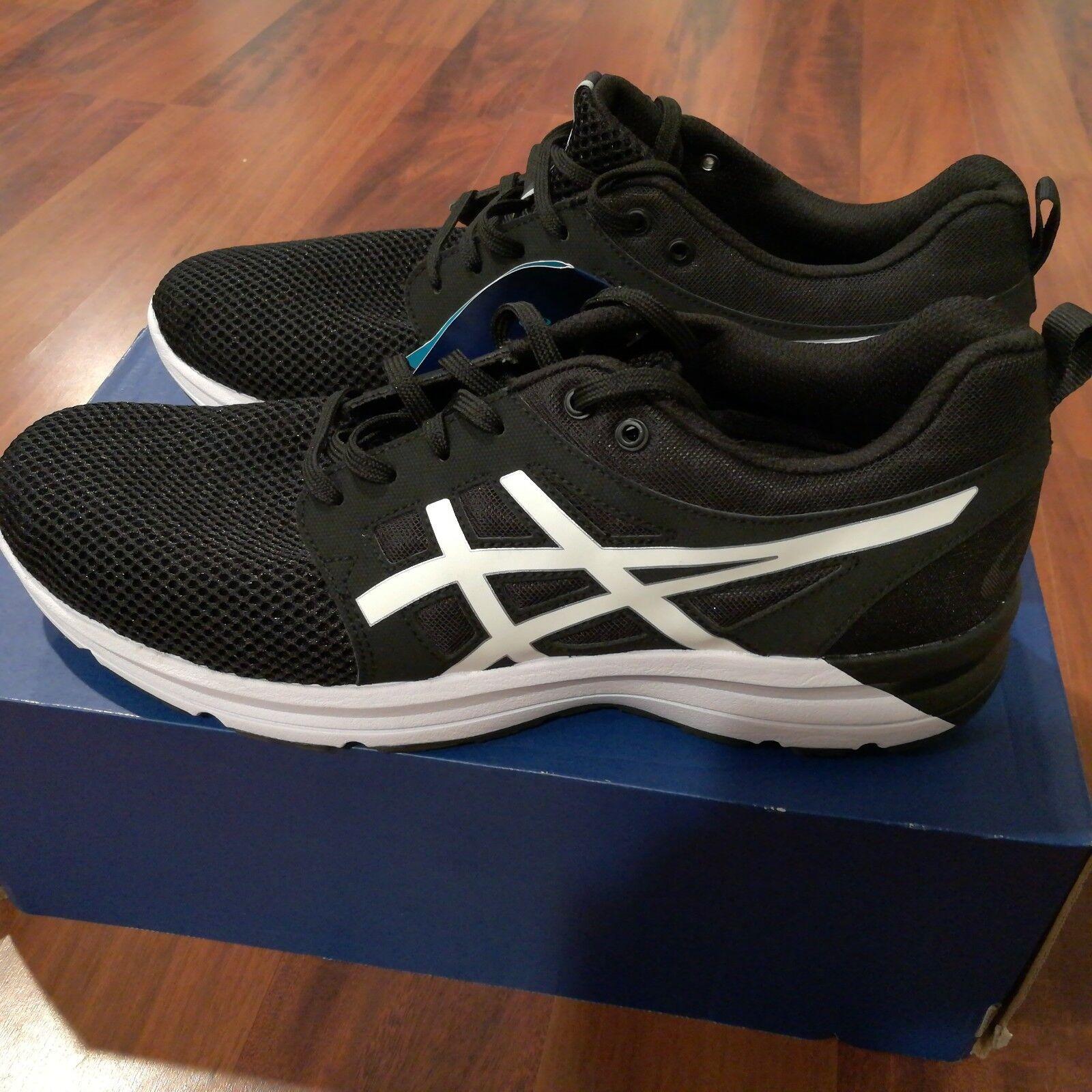 Asics Gel Torrance Homme Athlétique Chaussures De Course Noir Blanc Taille 11.5 NEW IN BOX