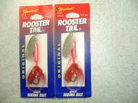 2 X Yakima Bait , Wordens , 1/4 Oz , Rooster Tail Spinners - Flame. -