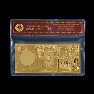 WR-1966-Saudi-Arabia-50-Riyals-24k-Gold-Banknote-Plastic-Bill-In-Sleeve