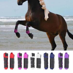 Verstellbare-Pferd-Bein-Stiefel-vorne-Hinterbeine-Bein-Sehnen-Protektor-Reitsport-Unterstuetzung