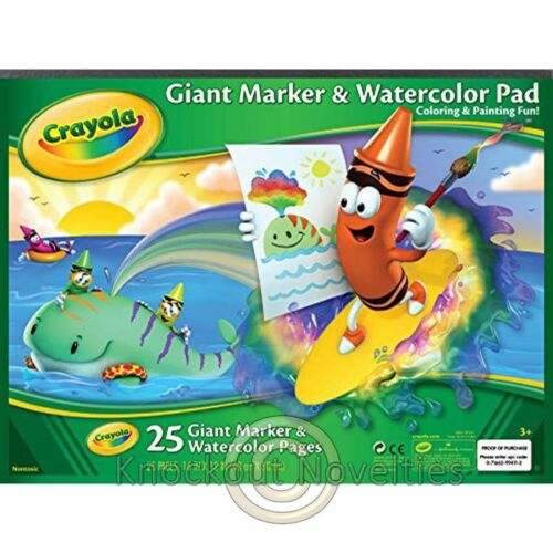 Watercolor Pad Crayola Draw Art Craft Crafts Fun Learn Play Giant Marker