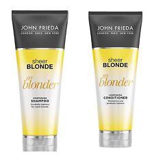 John Frieda Sheer Blonde Champú Go Blonder Aclarante & Acondicionador 250ml