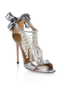 Aquazzura-Fifth-Avenue-Metallic-Leather-Crystal-Sandals-Size-40EU-9-5US-1695-00