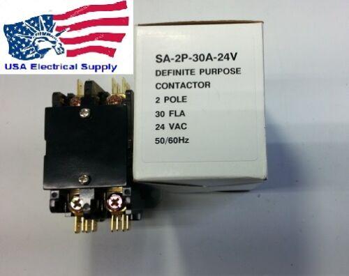 New Air Conditioner  Contactor SA-2P-30A-24V