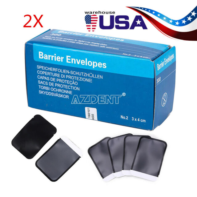 2* 300pcs/kit Dental X-Ray ScanX Barrier Envelopes SIZE #2 package size 33*44mm