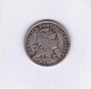 50-centavos-Portugal-1947-Wappen-und-Freiheit