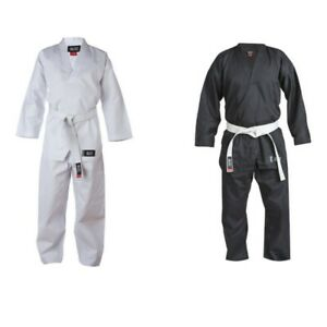 Adulto-PICO-KARATE-taekwondo-Freestyle-Traje-GI-Dobok-UNIFORME-negro
