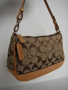 Image Is Loading Authentic Coach Small Clutch Purse Signature 034 C
