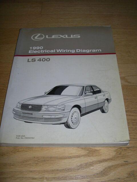 1990 Lexus Ls400 Ls 400 Electrical Wiring Diagram Service