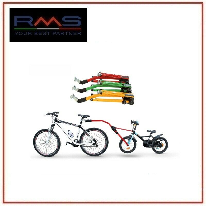 Barra Traino bici pieghevole bimbo rossa trail angel Facile montaggio