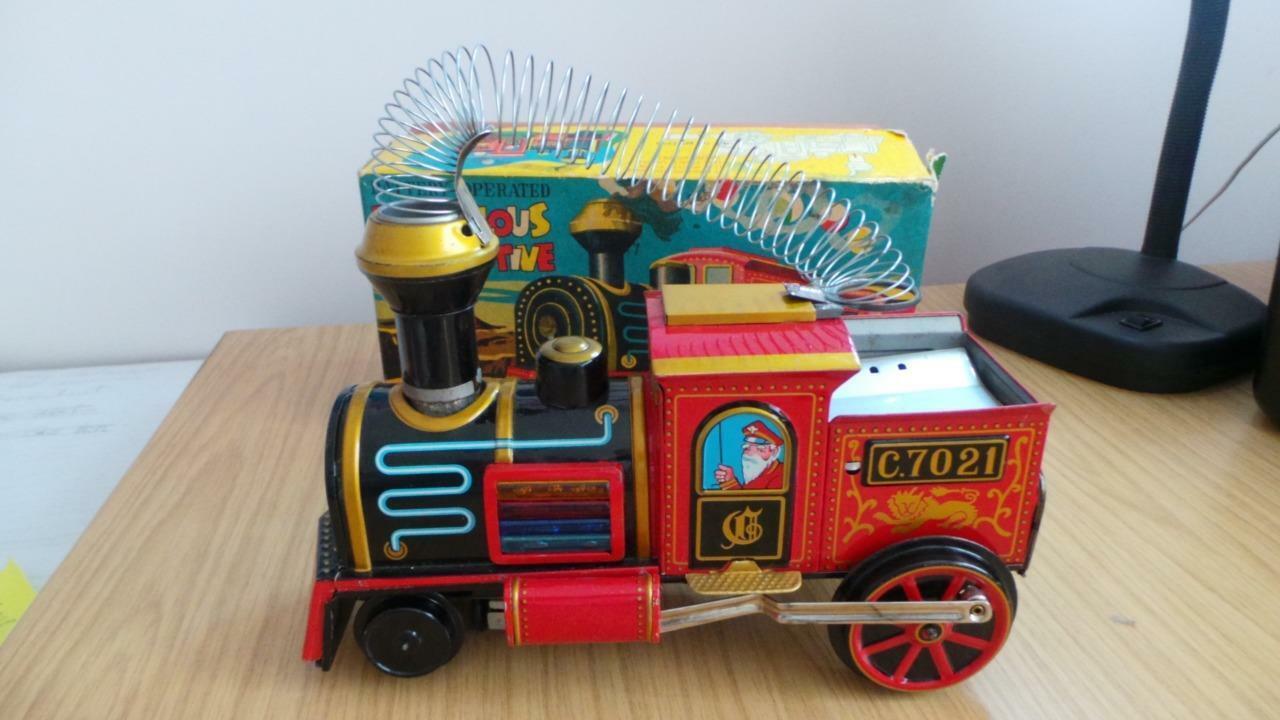 KB8  TM nomera Locomotora de acumuladores Hojalata maravillosa-en muy buena condición Caja