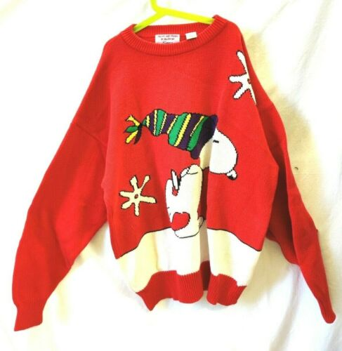 Vintage Snoopy and Friends Sweater Snoopy Snowflak