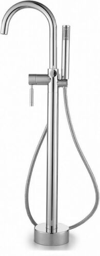 OVE Decors Milly 1-Handle Freestanding Roman Tub Faucet with Hand Shower Chrome
