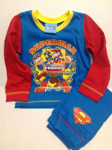 SUPERMAN DC SUPER FRIENDS BOYS PJS//PYJAMAS CHARACTER NEW IN  BEST SELLER