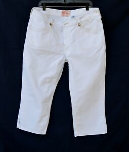 33cd4381 Image is loading LEVI-Strauss-Stretch-Off-white-SIGNATURE-Denim-cropped-