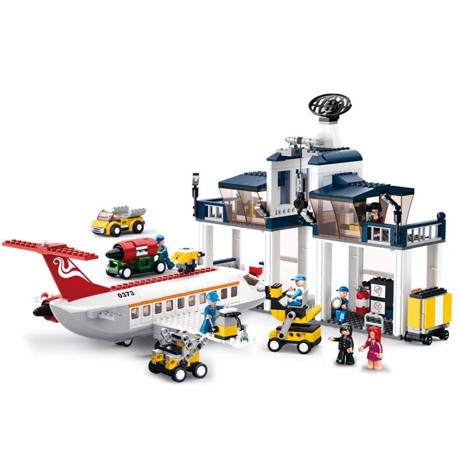 Sluban Airport with Passenger Plane M38-B0373