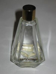 "Vintage Ciro Reflections Art Deco Style Glass Perfume Bottle - Empty - 4"" Height"