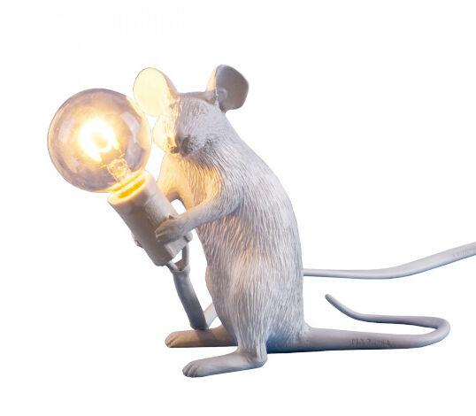 SELETTI lampada da tavolo MOUSE LAMP bianca a LED Sitting seduta