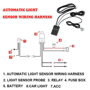 Automatic OnOff Control Switch LED Work Light Bar Relay Wiring