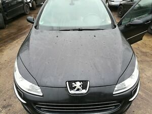 Peugeot-407-Motorhaube-Exl-schwarz-obsidien