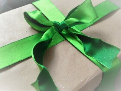 "burgundy//green crafts Luxury reversible 1.5/"" Christmas ribbon bows per metre"