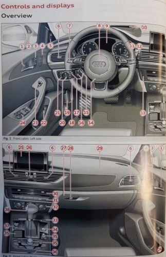 GENUINE AUDI A6 S6 SALOON HYBRID AVANT HANDBOOK WALLET 2011-2015 PACK F-735