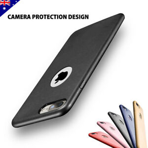 iPhone-8-7-6s-Plus-Ultra-Slim-Thin-Leather-Case-Cover-Skin-Shockproof-for-Apple