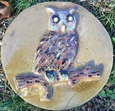 Owl 9, stepping stone,  plastic mold, concrete mold, cement, plaster