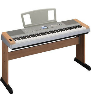 yamaha dgx640 c cherry 88 key digital piano keyboard stand adapter notes stand 719399448088 ebay. Black Bedroom Furniture Sets. Home Design Ideas