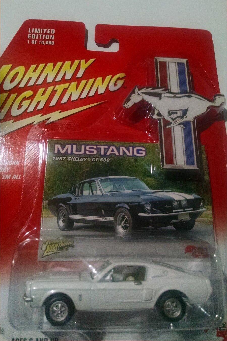 JOHNNY LIGHTNING 1967 SHELBY GT 500 500 500 SUPER RARE LIMITED EDITION 97a0de