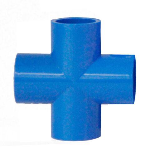Ø 20 à 160 mm PVC Croix 90 ° Tube Raccord klebefittings Blanc Gris Bleu